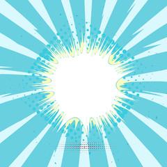 Tag, label pop art halftone vintage background. Vector