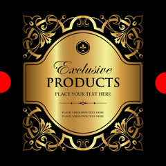 Luxury ornamental label