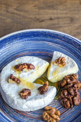 Camembert with walnuts