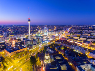 The Television Tower in Berlin at night