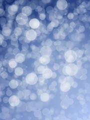 Blue Abstract Festive Background. Glitter Vintage Lights Background