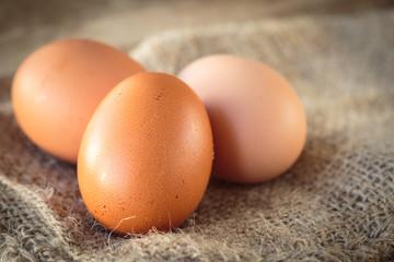 Fresh raw eggs