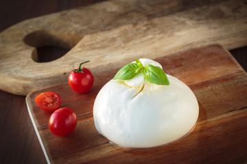 Italian mozzarella burrata