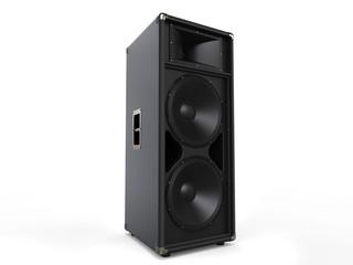 Modern black concert loudspeaker - studio shot