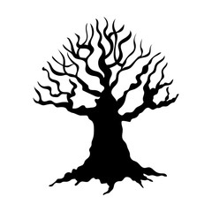 Tree silhouette isolated illustration