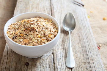 A bowl with muesli