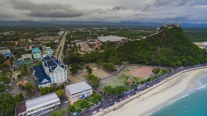 aerial view of khao chong krachok prachaupkhirikan province sout