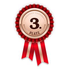 Bronze Medallie für den 3. Platz