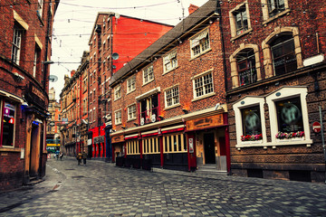City center of Liverpool, UK