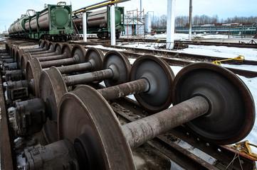 Wheels of train