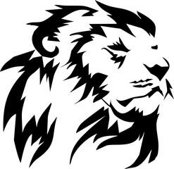 head lion_ tribal