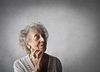 Elderly lady's portrait