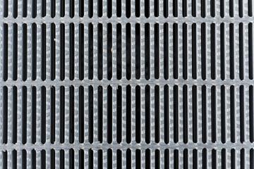 The galvanized steel grating on gutter