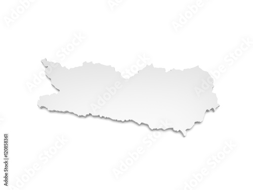 3d Karte Osterreich.3d Illustration Karte Osterreich Karnten Stockfotos Und