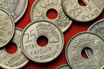 Coins of Spain. Casas Colgadas in Cuenca, Castilla-La Mancha