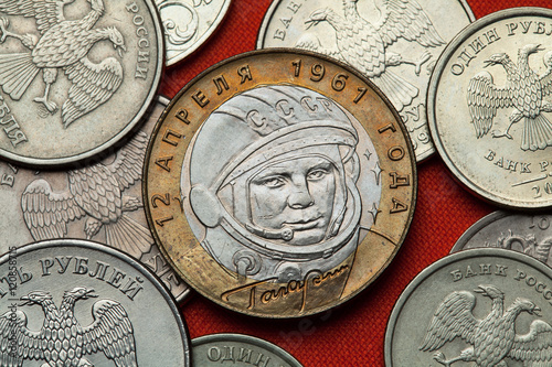 """""""Coins of Russia. Yuri Gagarin"""" Stock photo and royalty ..."""