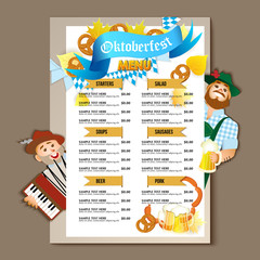 Beer restaurant brochure vector, alcohol menu design