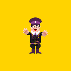 Dead fascist, zombie soldiers, character for halloween in a flat style