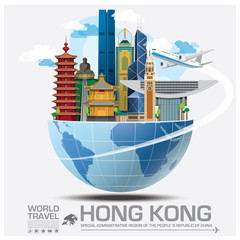 Hong Kong Landmark Global Travel And Journey Infographic