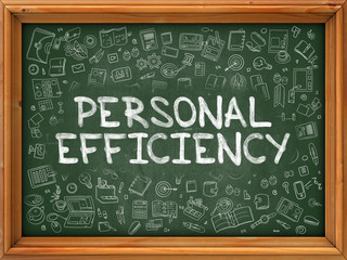 Personal Efficiency - Hand Drawn on Green Chalkboard.