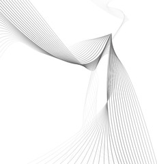abstract wave element for design greyscale