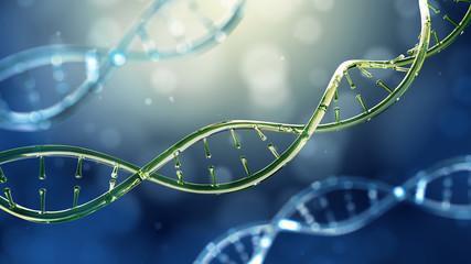 3d illustration of glass model of DNA molecule.