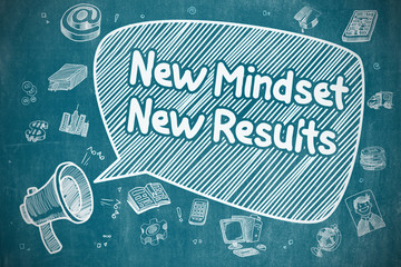 New Mindset New Results - Business Concept.