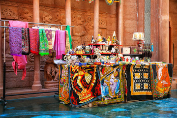 Sale of Indian shawls, rugs and Souvenirs