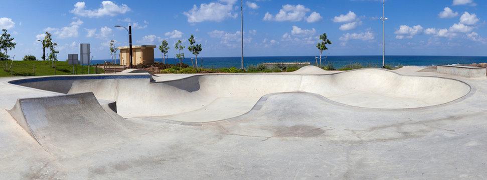 Empty public skate park