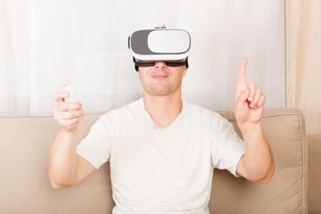 Virtual reality, VR.
