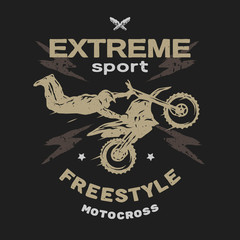 Motocross sport. Free style.