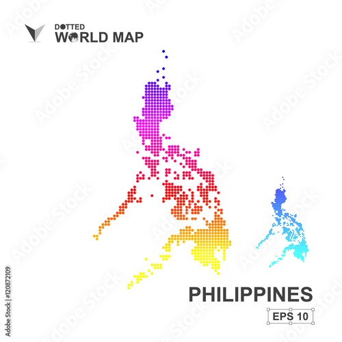 Map Of Philippines Dotted Vector,Abstract computer graphic colorful ...