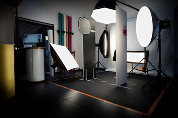 Studio photo avec set d'éclairage