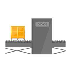 Conveyor belt isolated on white background vector illustration