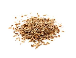 Fototapeta Dried dill seeds isolated. obraz