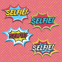 selfie selfie selfie set color