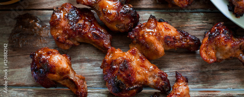 chicken wing with sauce stockfotos und lizenzfreie bilder auf bild 120882142. Black Bedroom Furniture Sets. Home Design Ideas