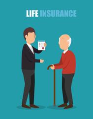 agent insurance health elderly design vector illustration eps 10