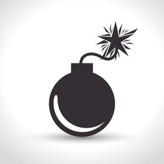 icon insurance security bomb design vector illustration eps 10