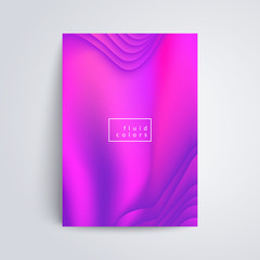 Fluid colors cover. Appliacable for cover, placards, poster, banner, flyer design. Eps10 vector illustration.