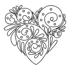 Decorative Love Heart.
