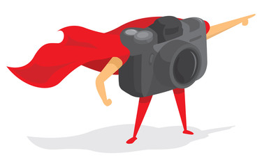 Photographic super hero camera with cape
