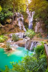 Tat Kuang Si Waterfalls at Luang prabang, Laos.