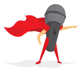 Microphone super hero saving the day