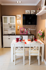 beautiful kitchen in small space