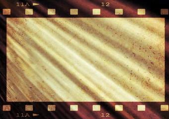 grunge film strip flag background