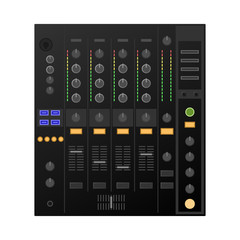Digital DJ deck, mixer. Vector
