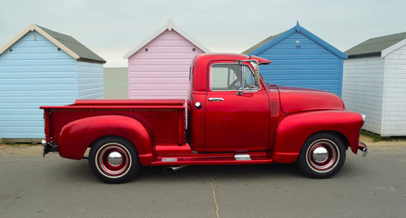 Classic red pickup