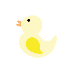 bath duck baby toy. game entertainment element. vector illustration