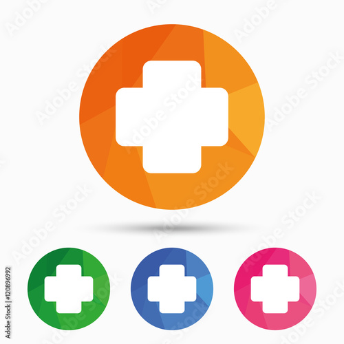 quotmedical cross sign icon diagnostics symbolquot stock image